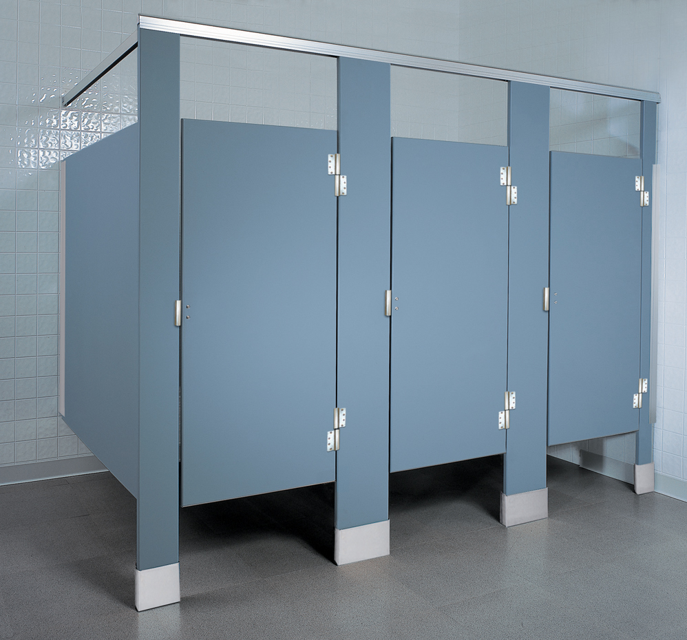 Solid Plastic Partitions Quick Ordering - Bathroom stall door stop