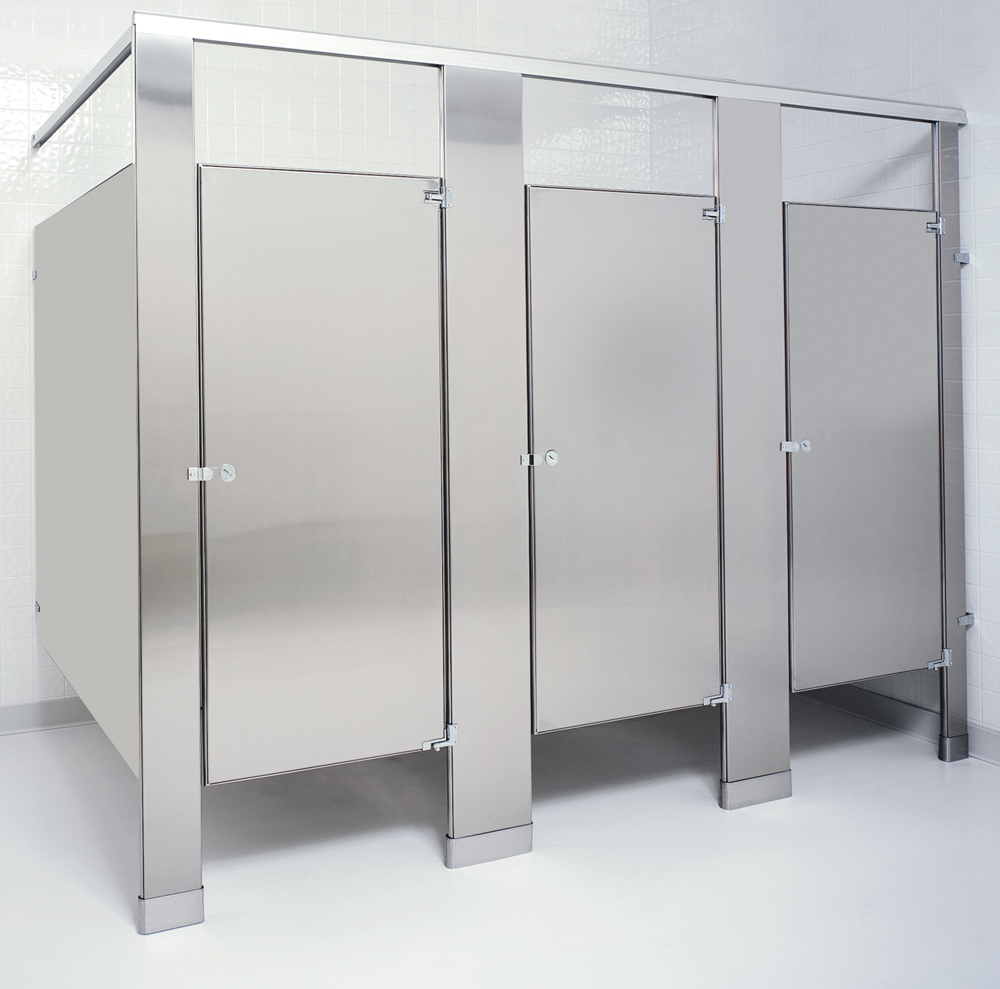 Stainless Steel Partitions Quick Ordering - Bathroom stall door stop